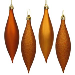 Burnish Orange 4 Finish Finial Ornament 140mm