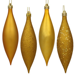 Antique Gold 4 Finish Finial Ornament 140mm