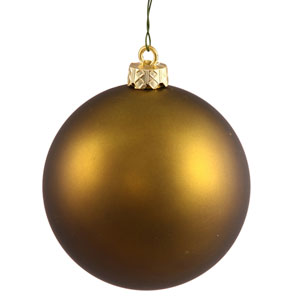 Dark Olive 4 Finish Ball Ornament 60mm