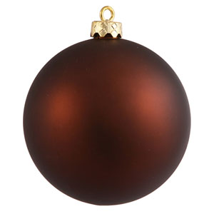 Mocha 4 Finish Ball Ornament 60mm