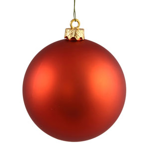 Burnish Orange 4 Finish Ball Ornament 60mm