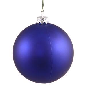 Cobalt Blue 4 Finish Ball Ornament 60mm