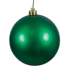 Emerald Matte Ball Ornament, Set of Twenty-Four