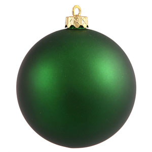 Emerald Green 4 Finish Ball Ornament 60mm