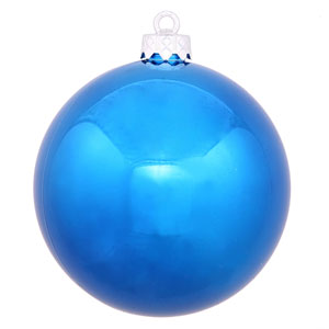 Blue 4 Finish Ball Ornament 70mm