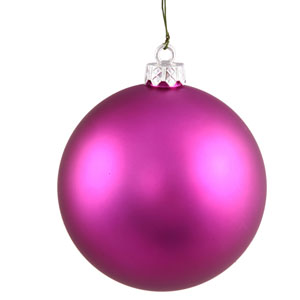 Magenta 4 Finish Ball Ornament 70mm