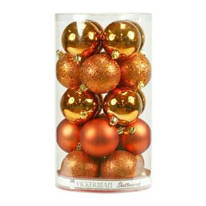 Burnish Orange 4 Finish Ball Ornament 70mm 20/Box