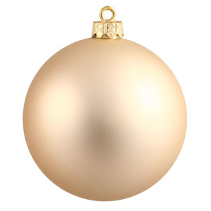 Champagne Matte Ball Ornament, Set of Twelve