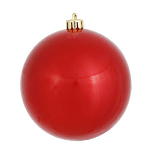 Red 3-Inch UV Candy Ball Ornament, Set of 12