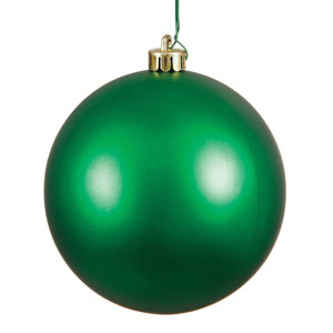 Green Matte Ball Ornament, Set of Twelve