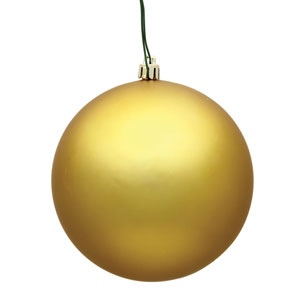 Gold Matte Ball Ornament, Set of Twelve