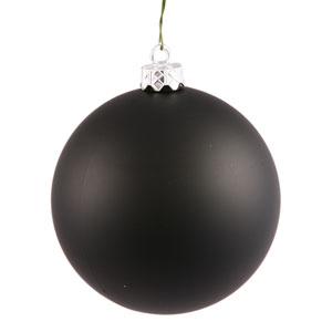 Black 4 Finish Ball Ornament 80mm