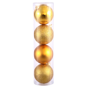 Antique Gold 4 Finish Ball Ornament 80mm 16/Box