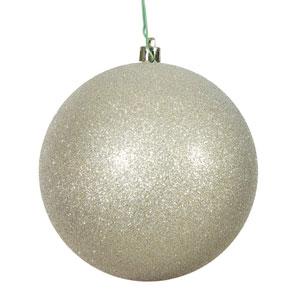 Champagne Glitter Ball Ornament, Set of Twelve