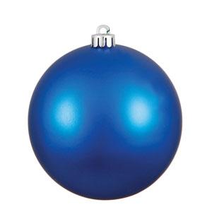 Blue Matte Ball Ornament, Set of Six