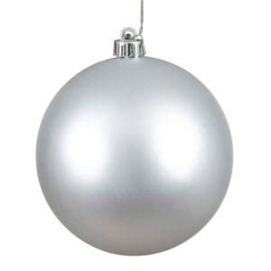 Silver Matte Ball Ornament, Set of Six