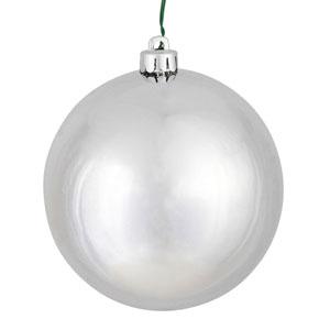 Silver Shiny Ball Ornament, Set of Six