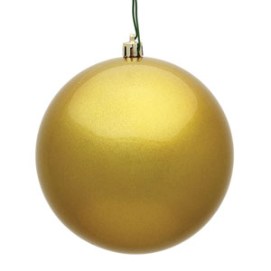 Gold Candy Ball Ornament, Set of Six