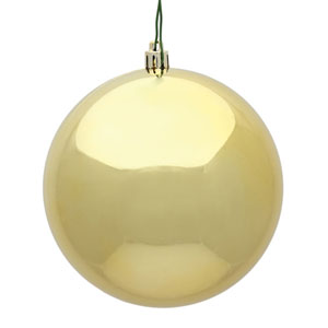 Gold Shiny Ball Ornament, Set of Six