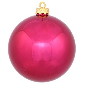Wine Shiny Ball Ornament, Set of Six