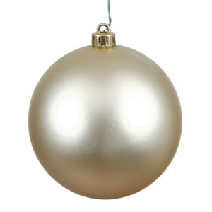 Champagne Matte Ball Ornament, Set of Six