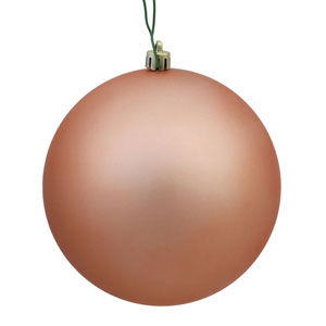 Rose Gold Matte Ball Ornament, Set of Six