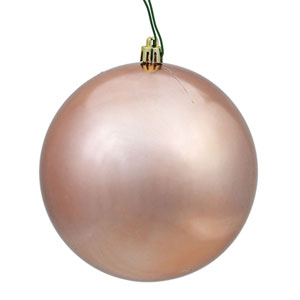 Rose Gold Shiny Ball Ornament, Set of Six