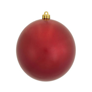 Red 5-Inch UV Candy Ball Ornament, Set of Four