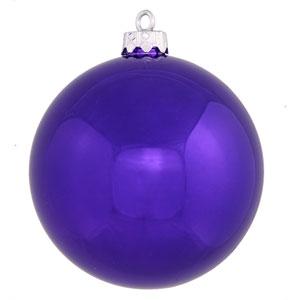 Purple 4 Finish Ball Ornament 120mm