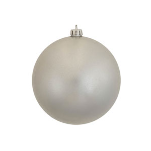 Silver 5-Inch UV Candy Ball Ornament, Set of Four