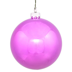 Orchid Pink 4 Finish Ball Ornament 120mm