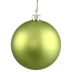 Lime 4 Finish Ball Ornament 120mm