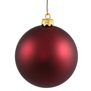 Wine 4 Finish Ball Ornament 120mm