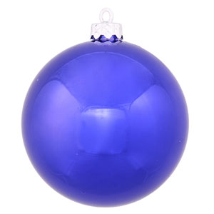 Cobalt Blue 4 Finish Ball Ornament 120mm