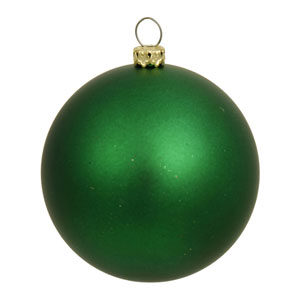 Green 6-Inch UV Matte Ball Ornament, Set of Four
