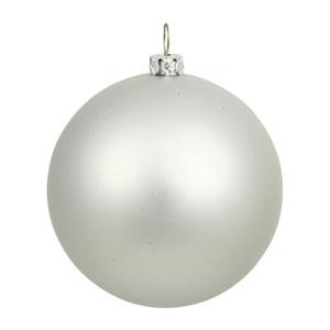 Silver 6-Inch UV Matte Ball Ornament, Set of Four