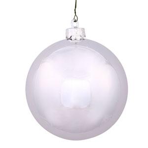 Silver 6-Inch UV Shiny Ball Ornament, Set of Four
