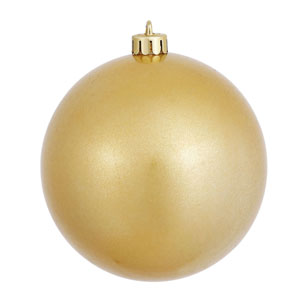 Gold 6-Inch UV Candy Ball Ornament, Set of Four