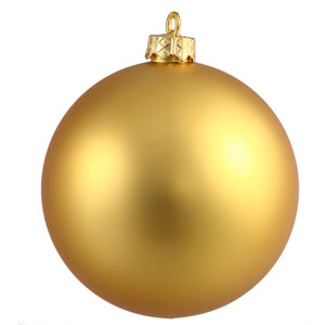 Gold 6-Inch UV Matte Ball Ornament, Set of Four