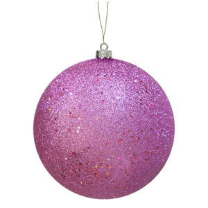 Orchid Pink Sequin Ball Ornament 150mm
