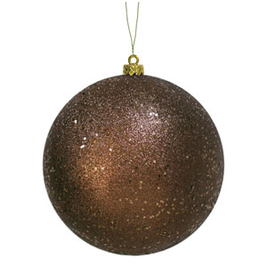 Chocolate Sequin Ball Ornament 150mm
