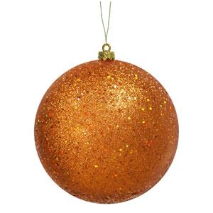 Burnish Orange Sequin Ball Ornament 150mm