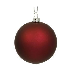 Wine Sequin Ball Ornament 150mm