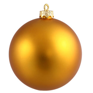 Antique Gold 6-Inch UV Matte Ball Ornament, Set of Four