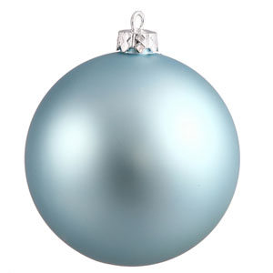 Baby Blue Sequin Ball Ornament 150mm