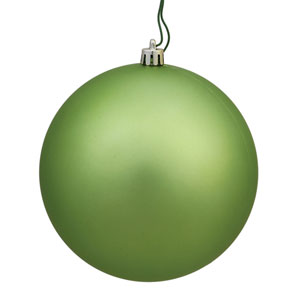 Celadon Matte Ball Ornament, Set of Four