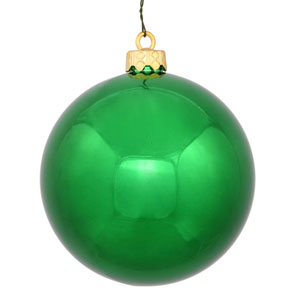 Green 8-Inch UV Shiny Ball Ornament
