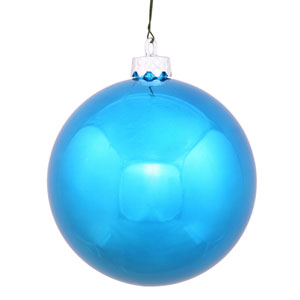 Turquoise 8-Inch UV Shiny Ball Ornament