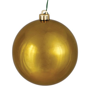 Olive Shiny Ball Ornament