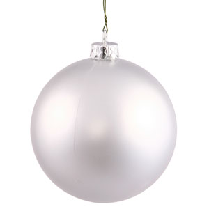 Silver 10-Inch UV Matte Ball Ornament